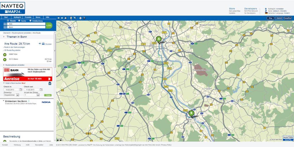 MAP24 Routenplaner